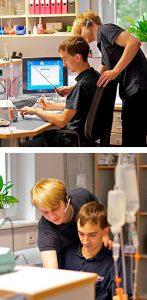 Medizintechniker in der Werkstatt der Greisen Produkt Service GmbH